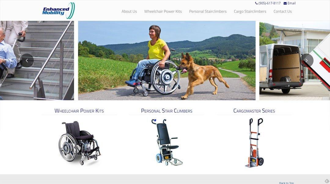 Website Design - Enhanced Mobility