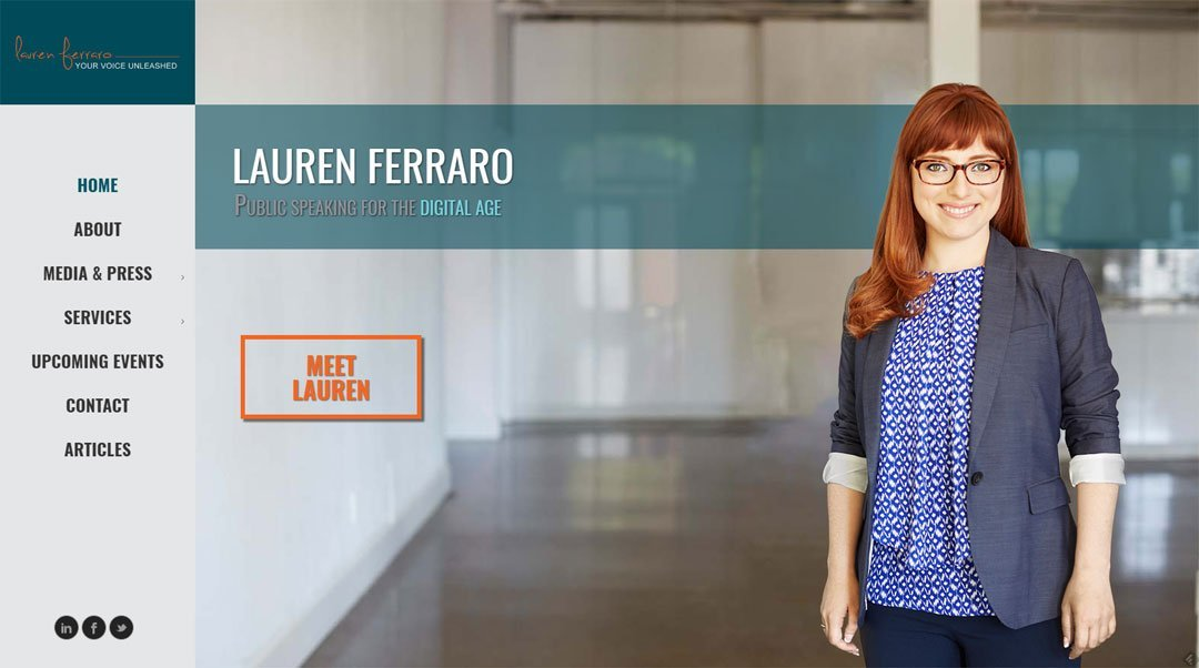 Website Design - laurenferraro.ca